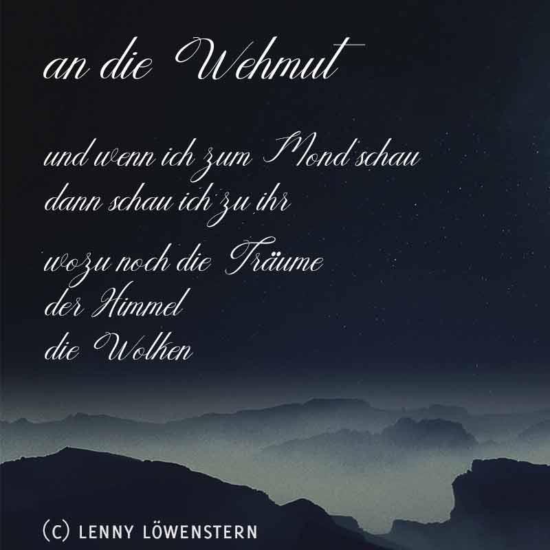 an die Wehmut (Gedicht) 1