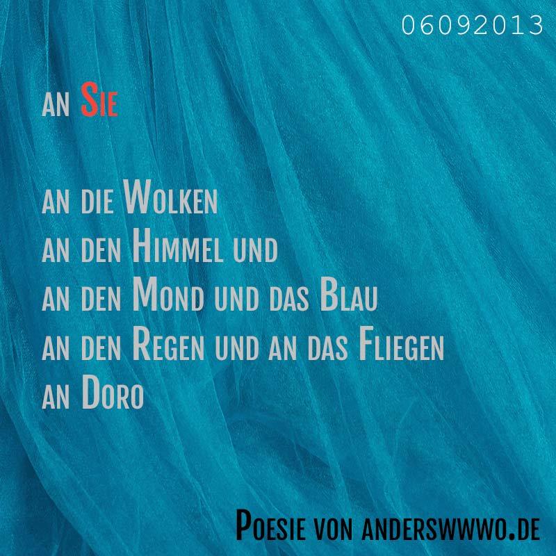 an Sie (Gedicht 06092013)