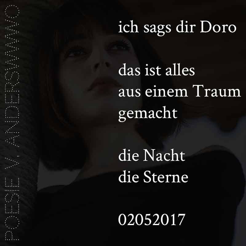 ich sags dir Doro (Gedicht 02052017)