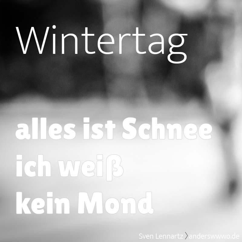 Wintertag (Gedicht)